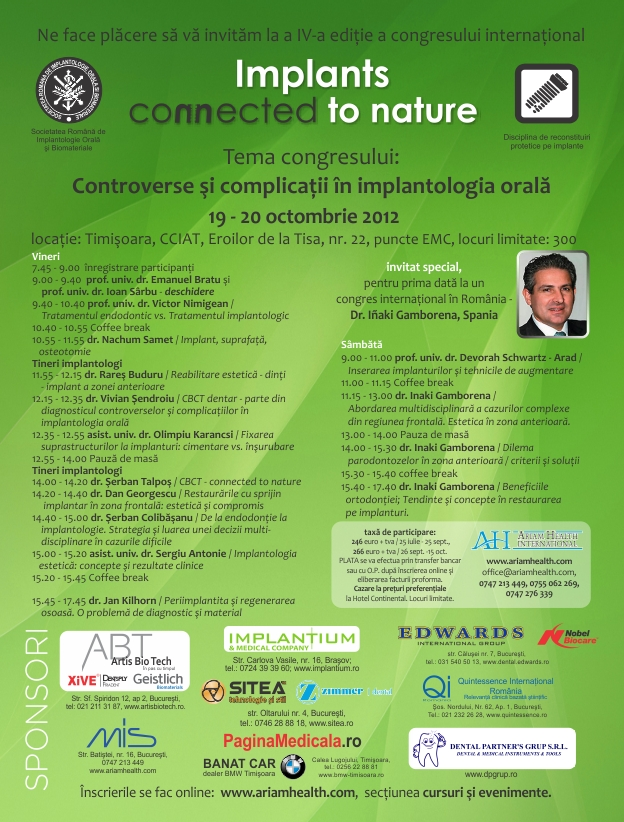 Implants Connected to Nature Timisoara 2012